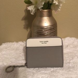 Kate spade grey and white wallet